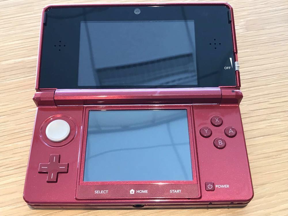 ニンテンドー3DS 本体 美品 動作確認済み 任天堂 Nintendo 充電器付き タッチペン付き 1円スタート 送料無料_画像2
