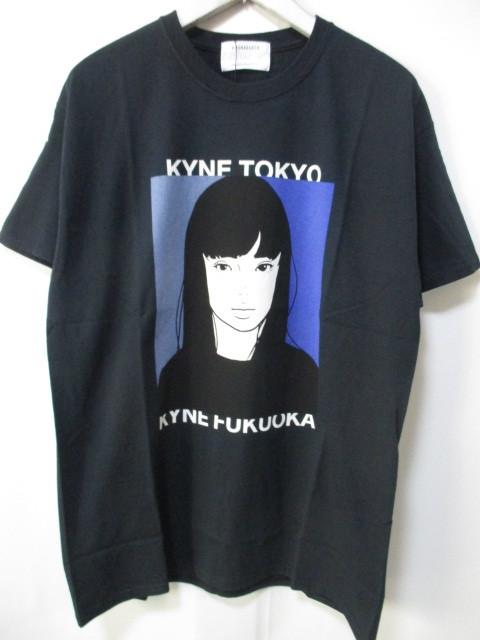 *1円~ 新品 入手困難 KIYONAGA&CO×KYNE キヨナガ&コー キネ キネガール Tシャツ TOKYO BLACK 黒 L FK