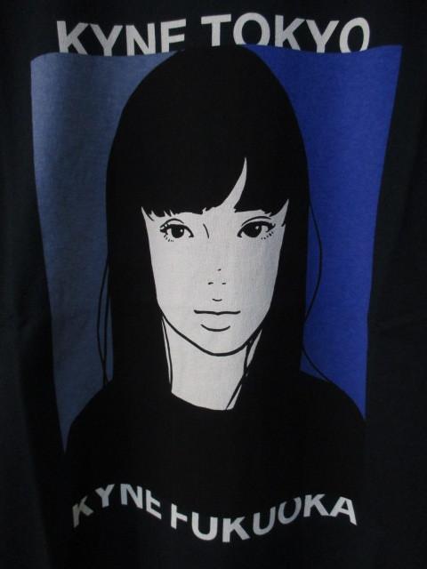 *1円~ 新品 入手困難 KIYONAGA&CO×KYNE キヨナガ&コー キネ キネガール Tシャツ TOKYO BLACK 黒 L FK_画像2