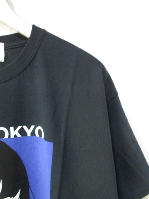 *1円~ 新品 入手困難 KIYONAGA&CO×KYNE キヨナガ&コー キネ キネガール Tシャツ TOKYO BLACK 黒 L FK_画像3