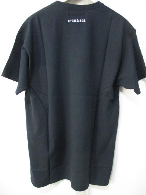 *1円~ 新品 入手困難 KIYONAGA&CO×KYNE キヨナガ&コー キネ キネガール Tシャツ TOKYO BLACK 黒 L FK_画像4