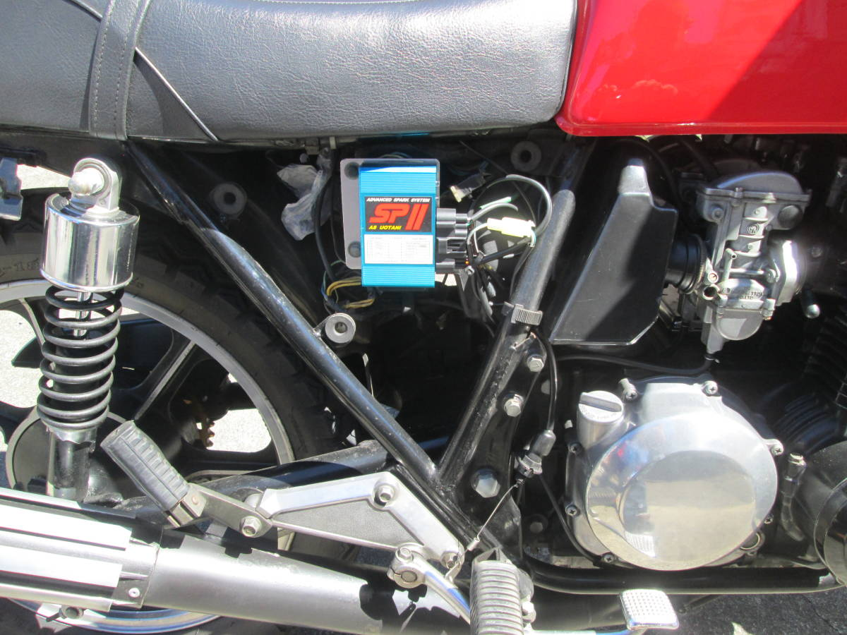 Z400J Z400FX KZ400EG KZ400J-009XXX オールペイント 陸送手配可 車検32年12月まで 旧車_画像8