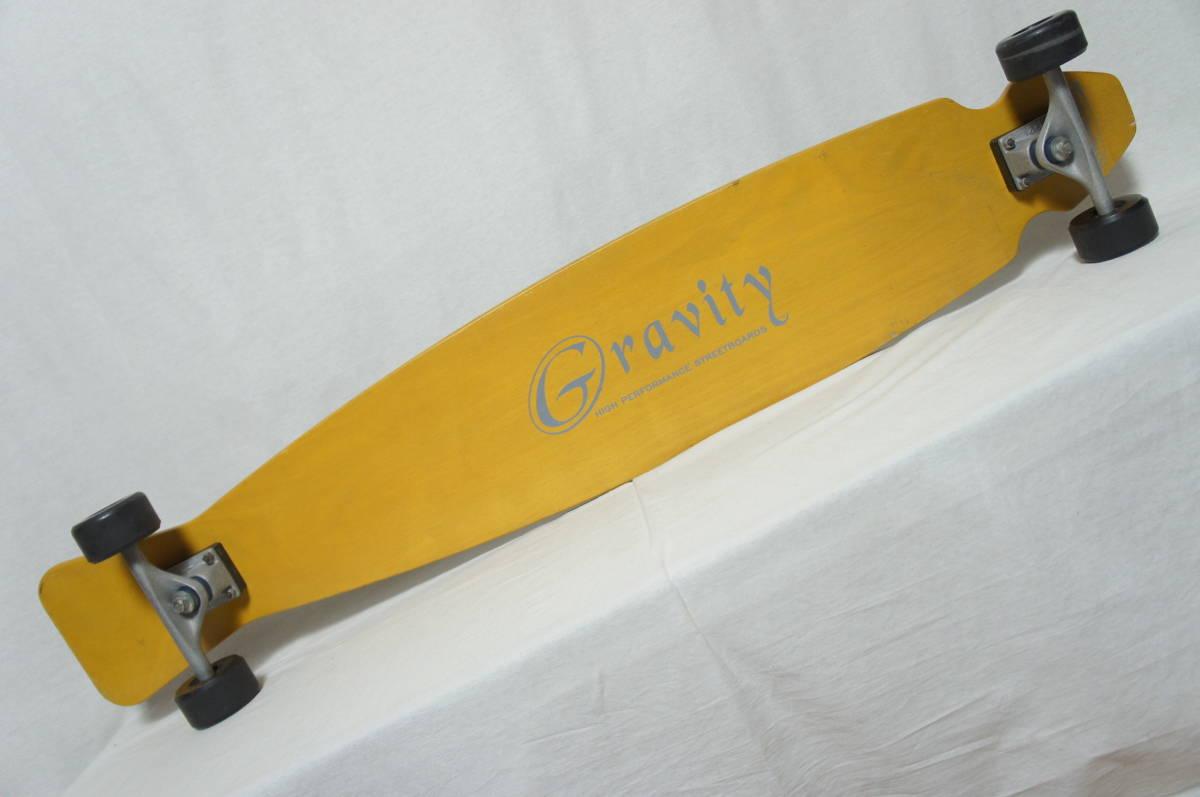 【Gravity】グラビティ ロングスケートボード 全長119cm タイヤ径7.3cm  サーフスケート スケボー ビンテージ オールド_画像2