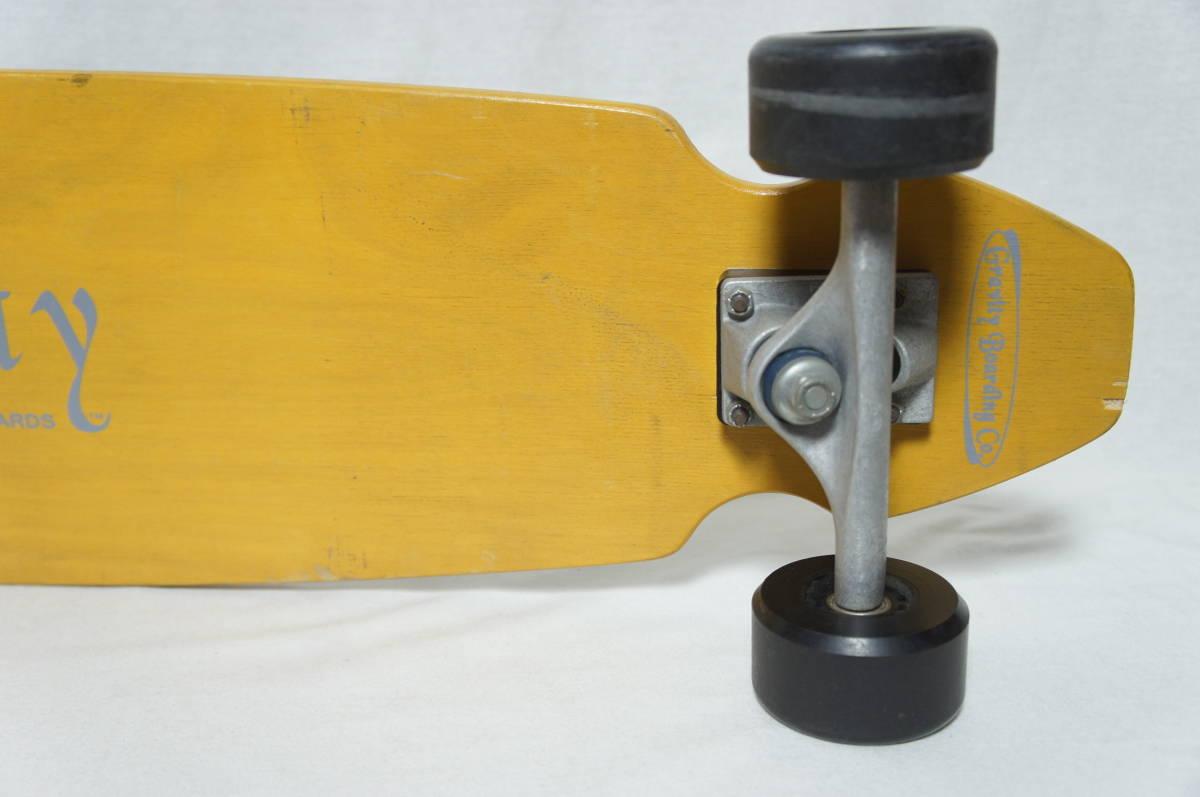 【Gravity】グラビティ ロングスケートボード 全長119cm タイヤ径7.3cm  サーフスケート スケボー ビンテージ オールド_画像5