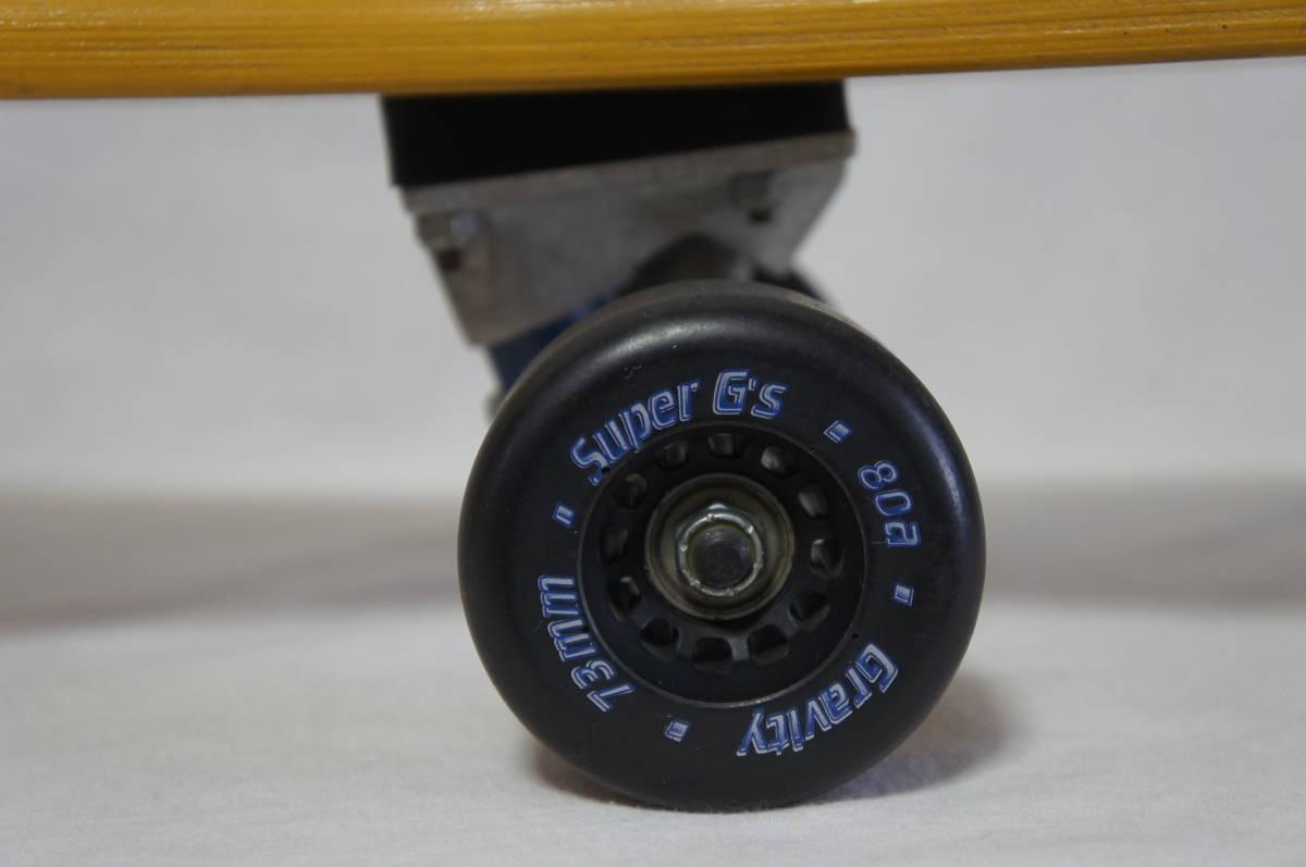 【Gravity】グラビティ ロングスケートボード 全長119cm タイヤ径7.3cm  サーフスケート スケボー ビンテージ オールド_画像9