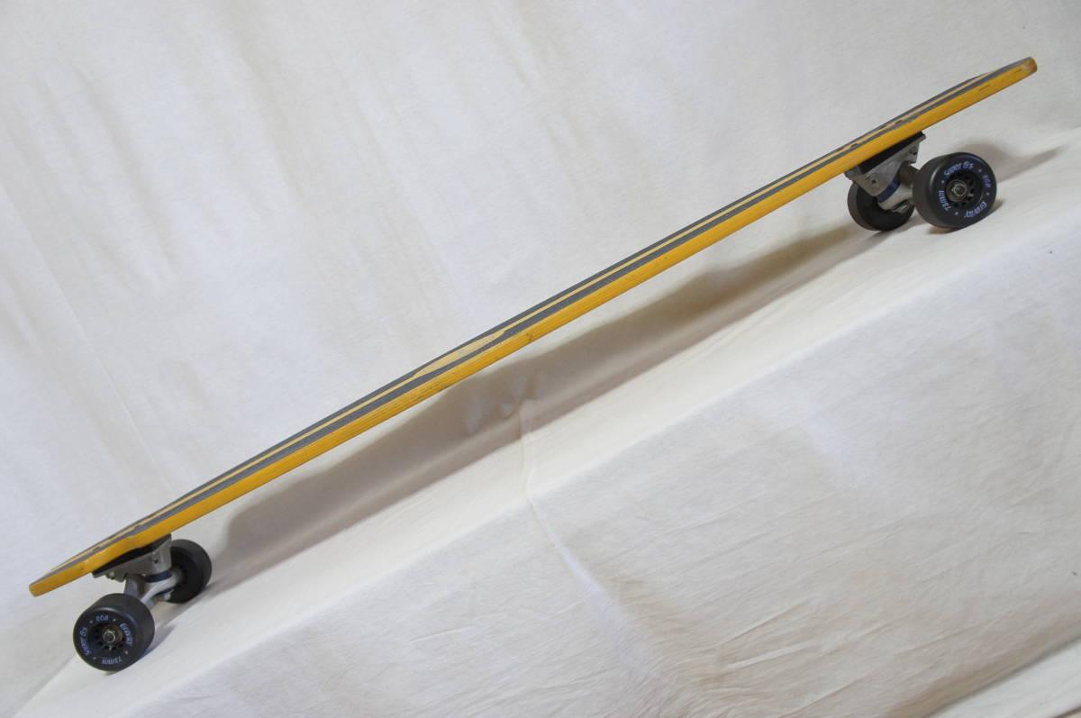 【Gravity】グラビティ ロングスケートボード 全長119cm タイヤ径7.3cm  サーフスケート スケボー ビンテージ オールド_画像10