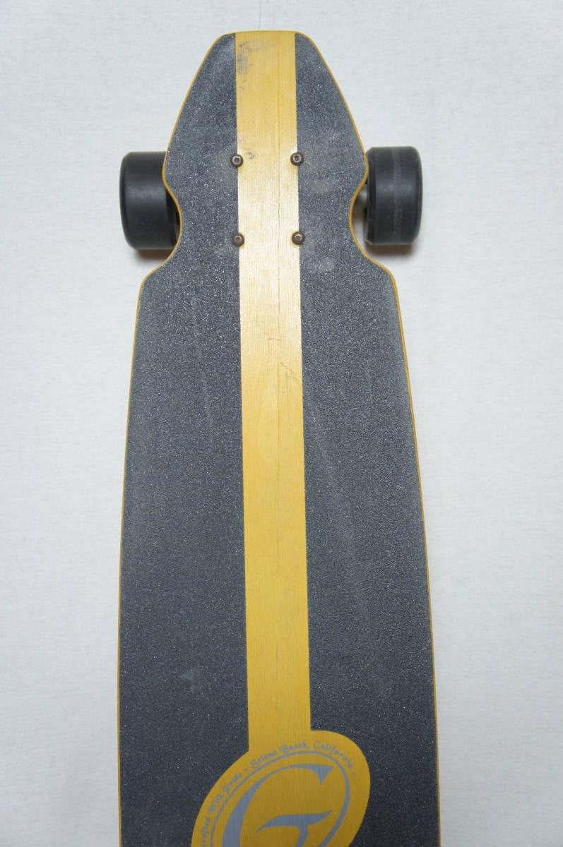 【Gravity】グラビティ ロングスケートボード 全長119cm タイヤ径7.3cm  サーフスケート スケボー ビンテージ オールド_画像7