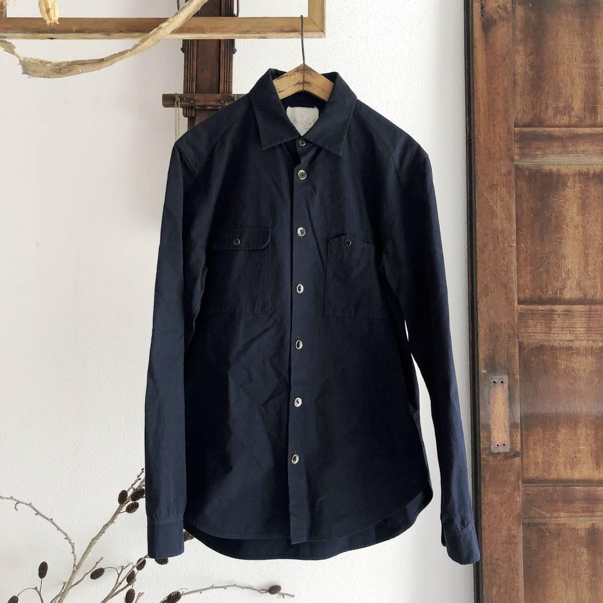 Araki Yuu 17AW Double pocket shirt jacket Nero_navy/Black button SIZE1 アラキユウ/シャツ/ジャケット_画像1