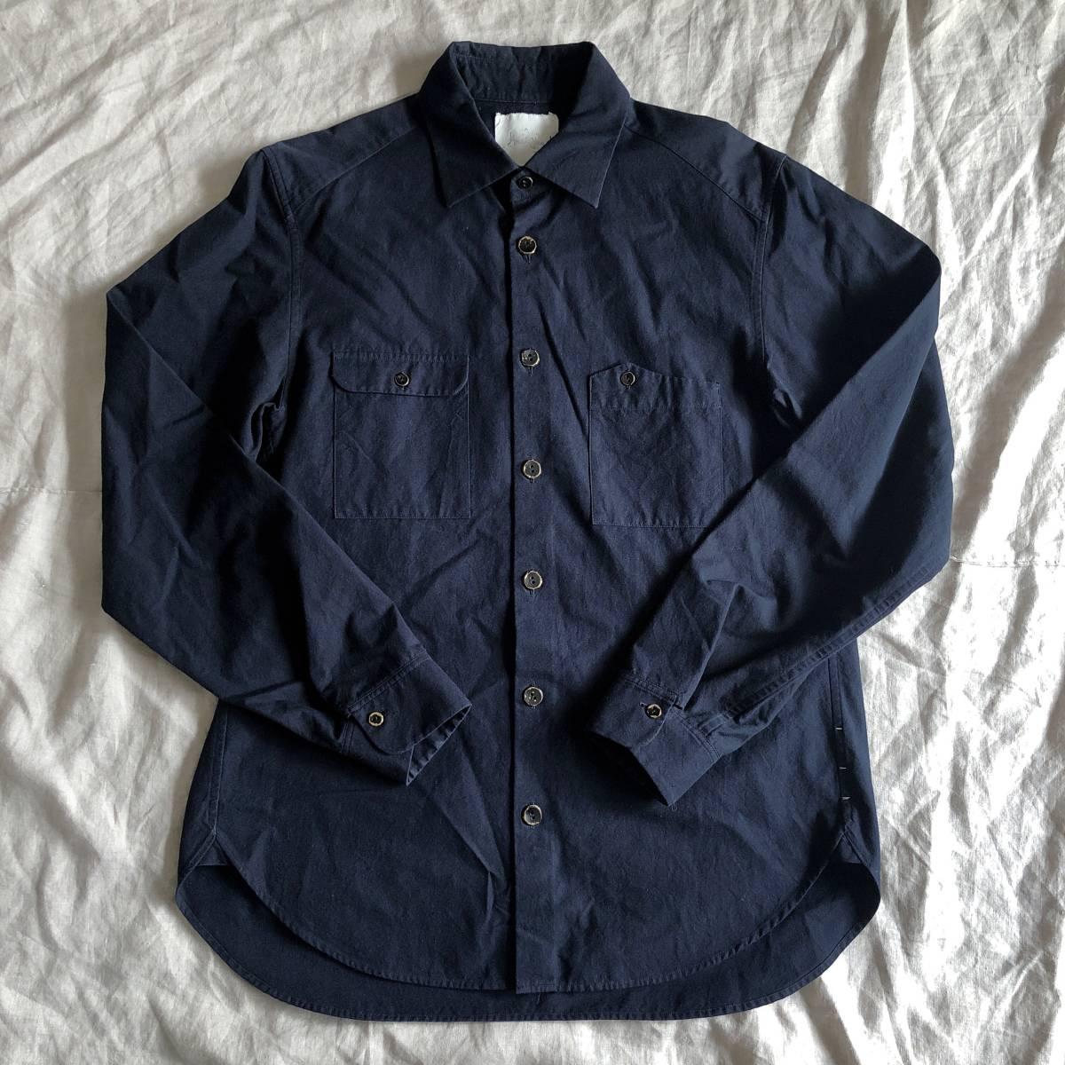 Araki Yuu 17AW Double pocket shirt jacket Nero_navy/Black button SIZE1 アラキユウ/シャツ/ジャケット_画像5