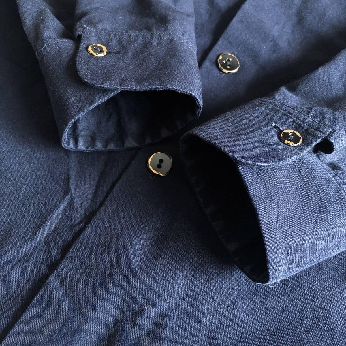 Araki Yuu 17AW Double pocket shirt jacket Nero_navy/Black button SIZE1 アラキユウ/シャツ/ジャケット_画像6