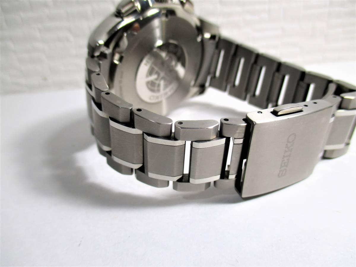 売切 美品 アストロン 白 デュアルタイム SBXB047 TI/セラミック (14_画像6