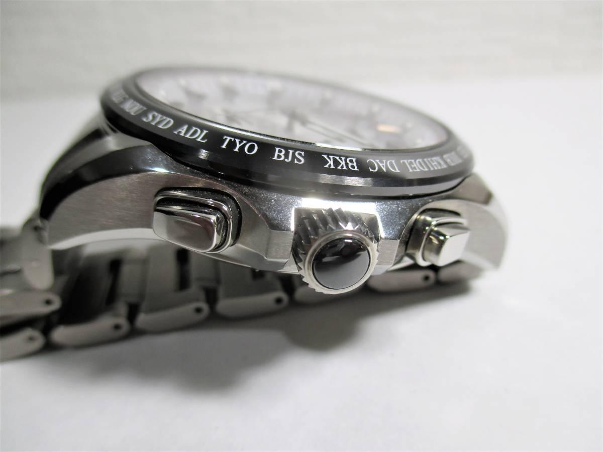 売切 美品 アストロン 白 デュアルタイム SBXB047 TI/セラミック (14_画像8