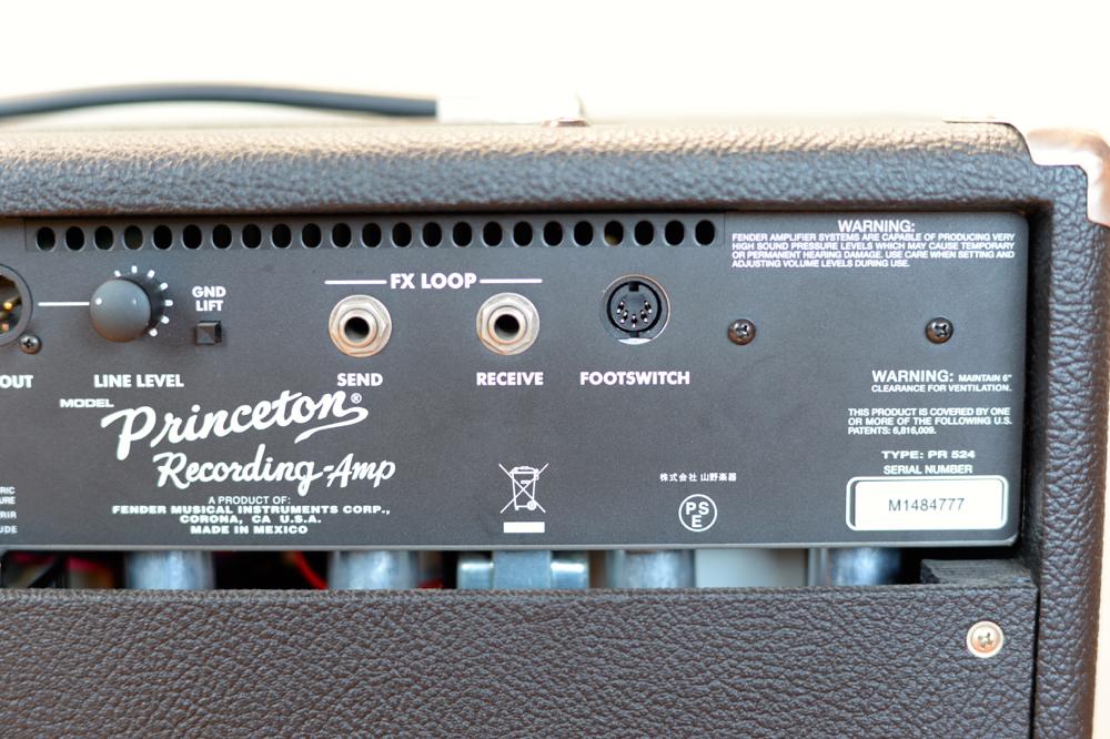 【国内正規品100V仕様】 Fender USA Princeton Recording Amp アッテネーター内蔵 プリンストンリバーブ プリンストン Reverb _画像6