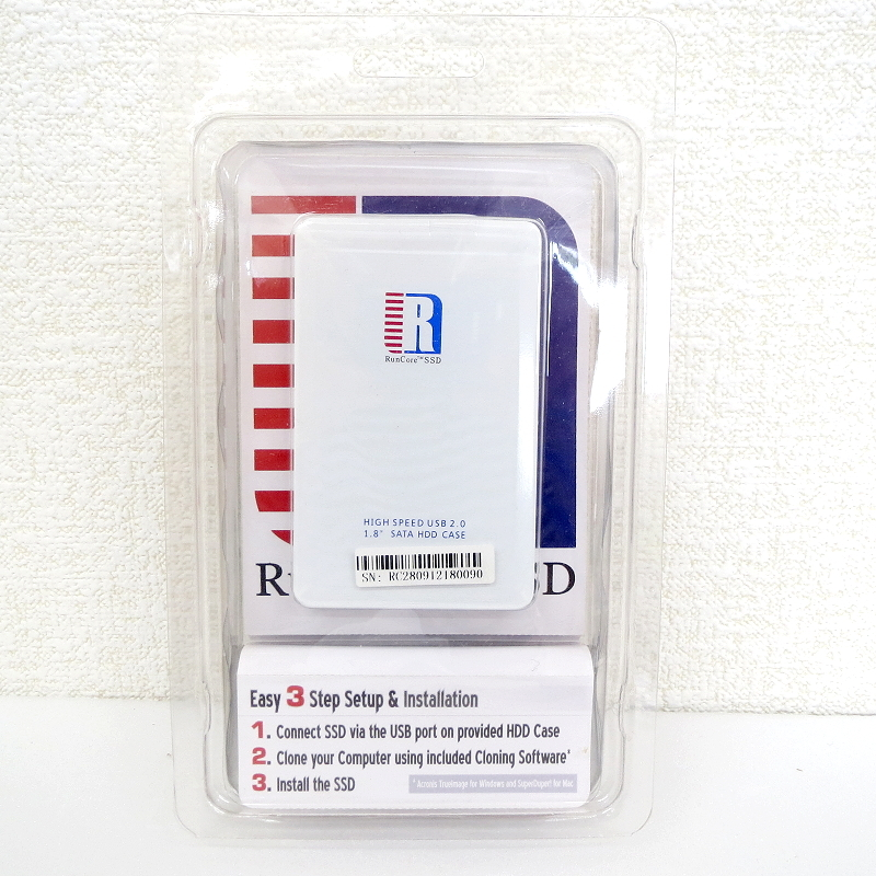 【45】SSD 1.8インチ 128GB RunCore ケース_画像2