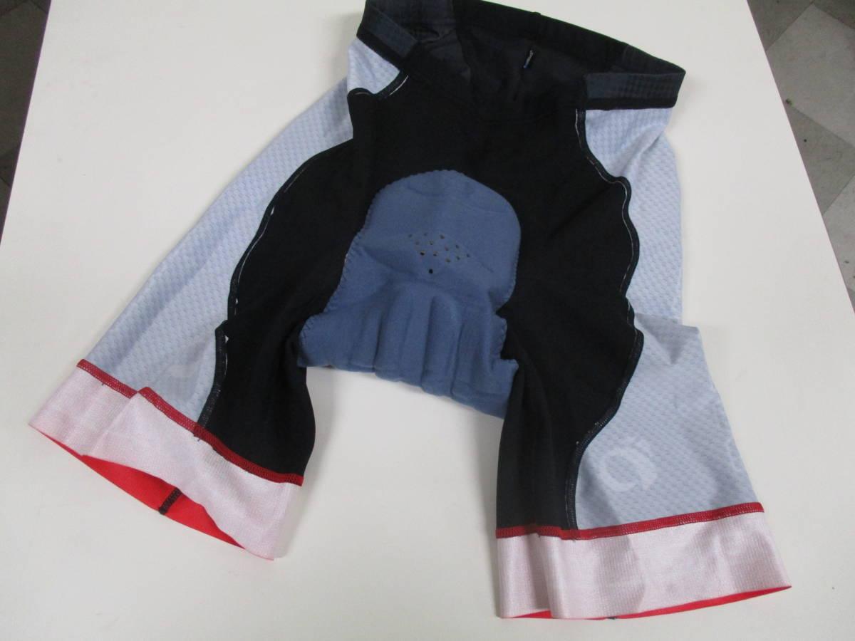 パールイズミ 293-3DNP コールドブラックレーサーパンツ 赤/黒 Mサイズ レーパン サイクリングパンツ_画像6
