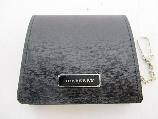 1円★ 未使用品 バーバリー コインケース ブラック レザー 小銭入れ 本革 黒 メンズ BURBERRY