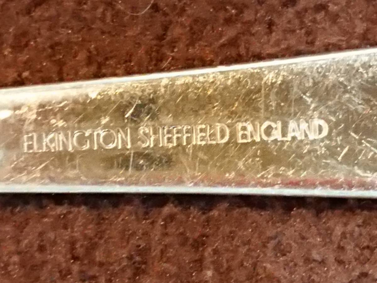 レトロ シェフィールド イギリス ヴィンテージ フォーク・セット 5本 エルキントン社製_画像8