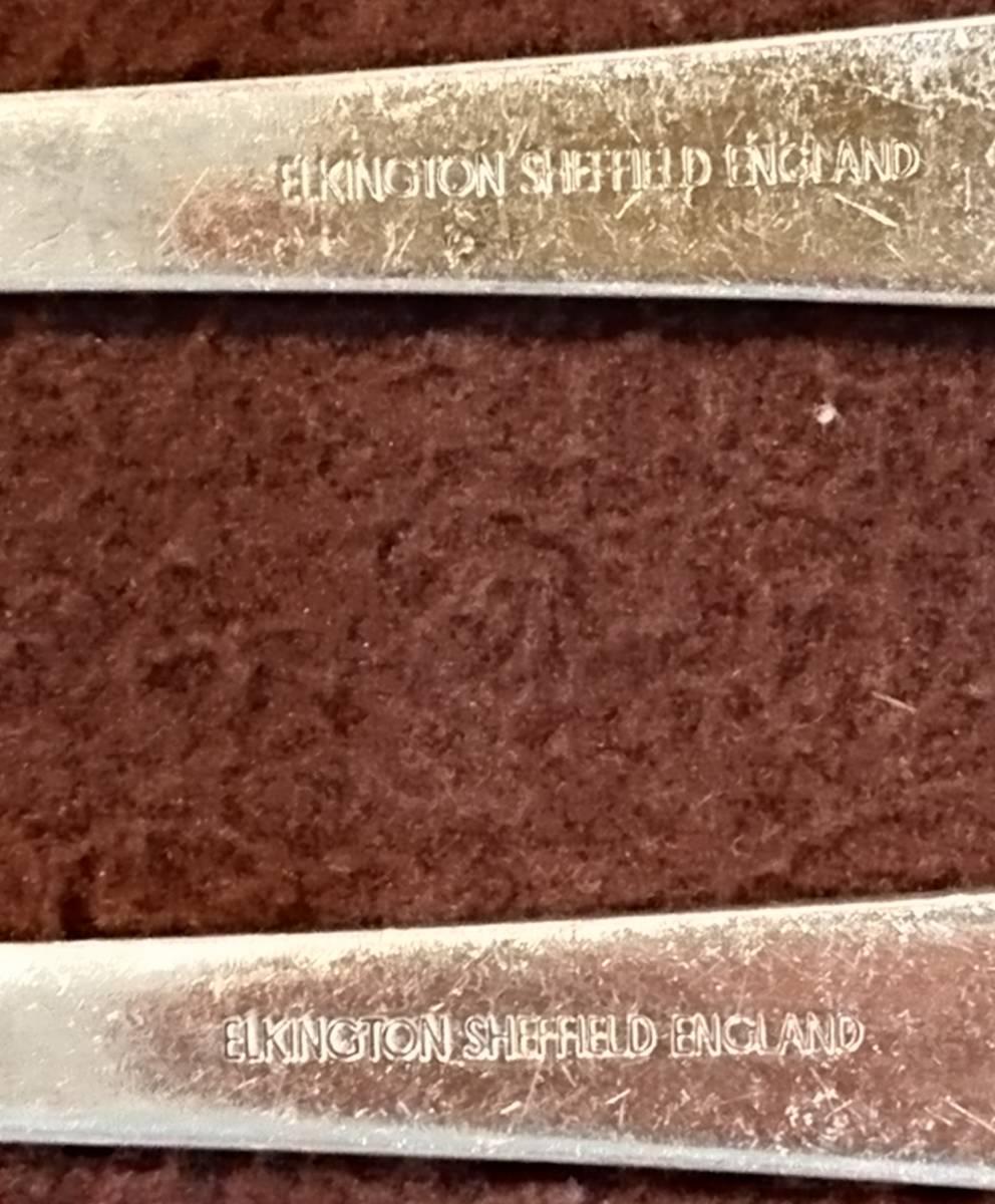 レトロ シェフィールド イギリス ヴィンテージ フォーク・セット 5本 エルキントン社製_画像9