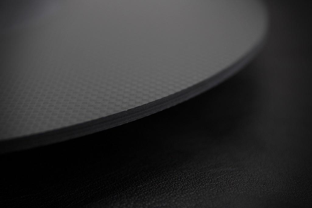 4061 ★特注品 ドライカーボン製 肉厚ターンテーブルシート 4mm厚 レコード スリップマット CFRP プレー ボード 炭素繊維 LP EP ♪1123_画像7