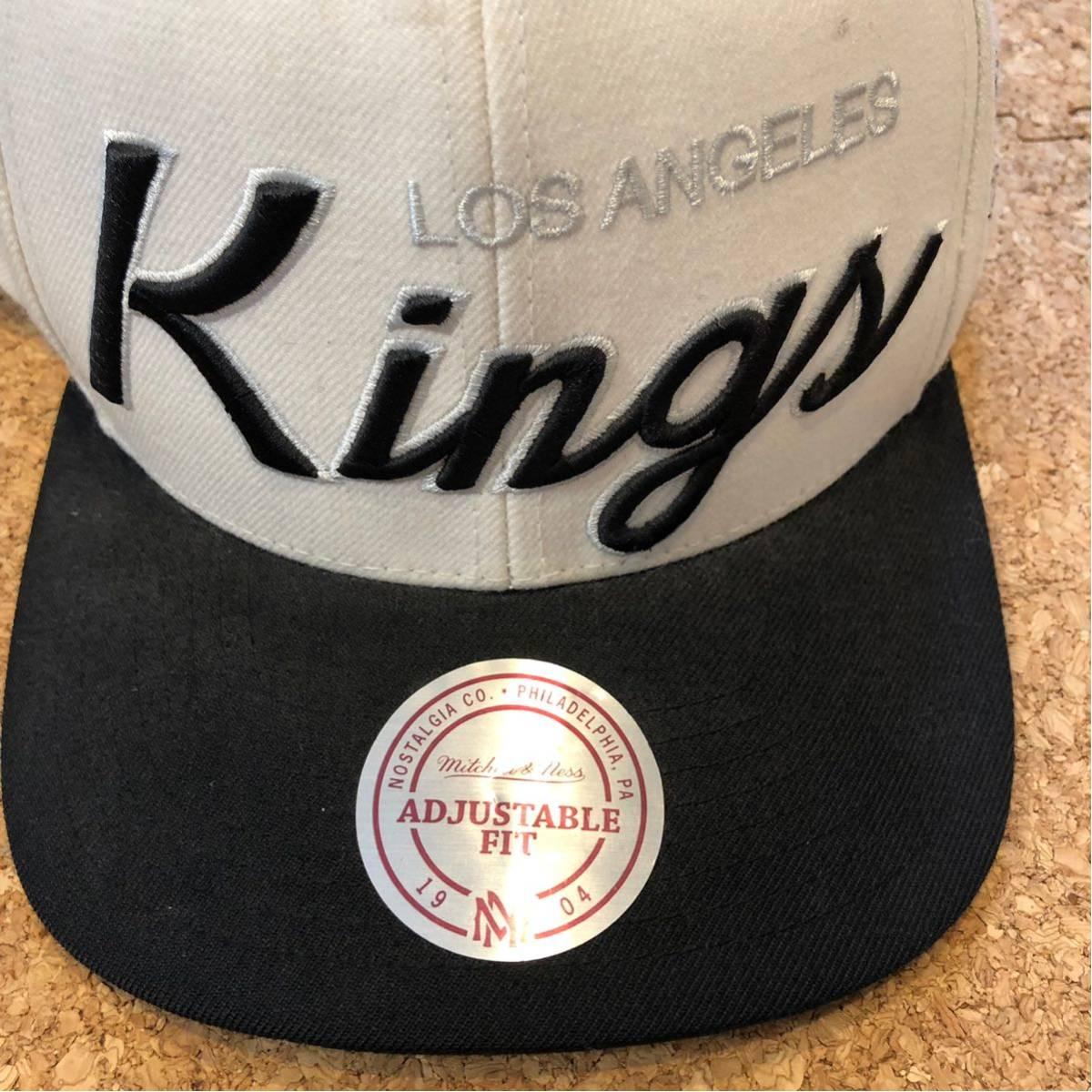 mitchell≠ss NHL losangeles kings キャップ スナップバック 白黒_画像2