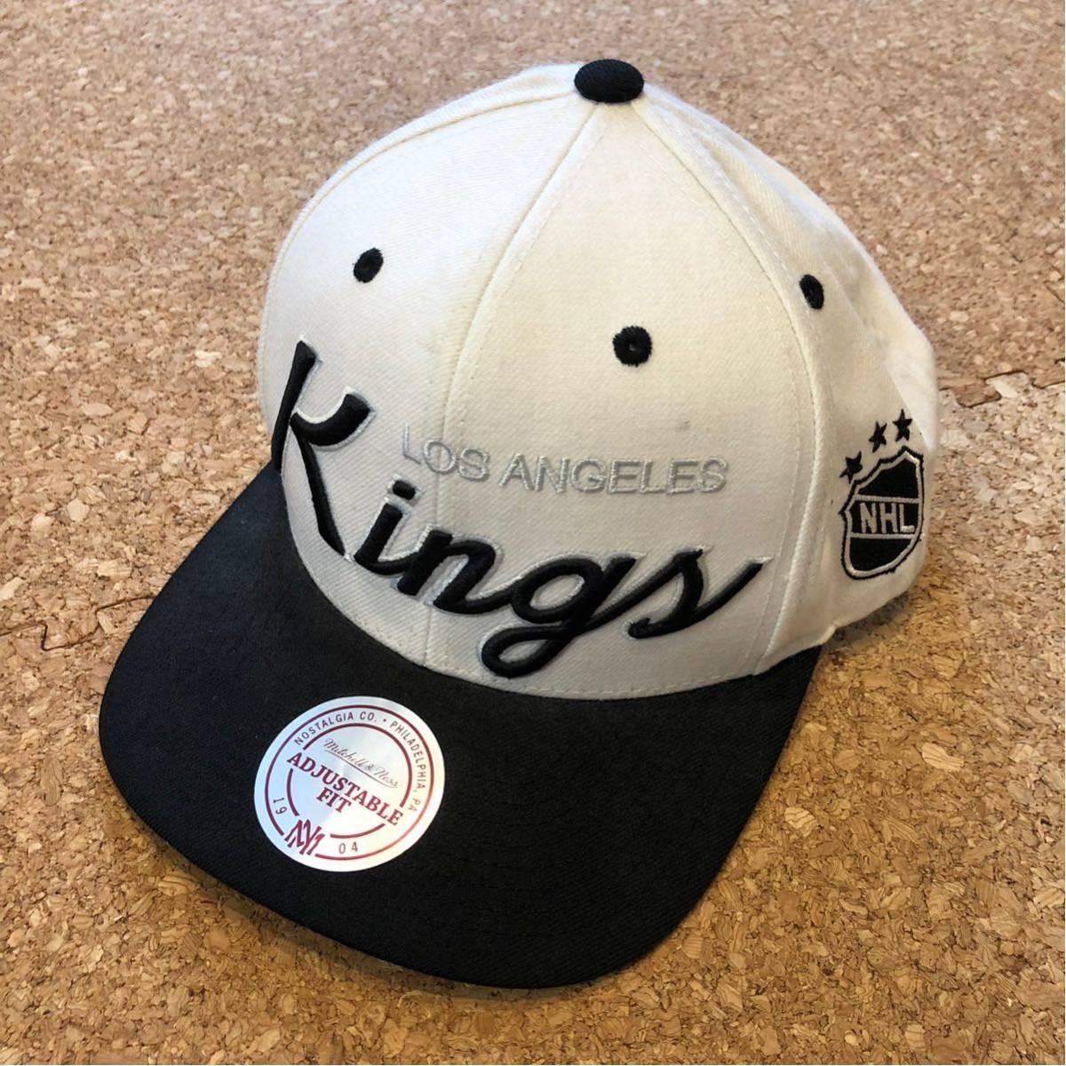 mitchell≠ss NHL losangeles kings キャップ スナップバック 白黒