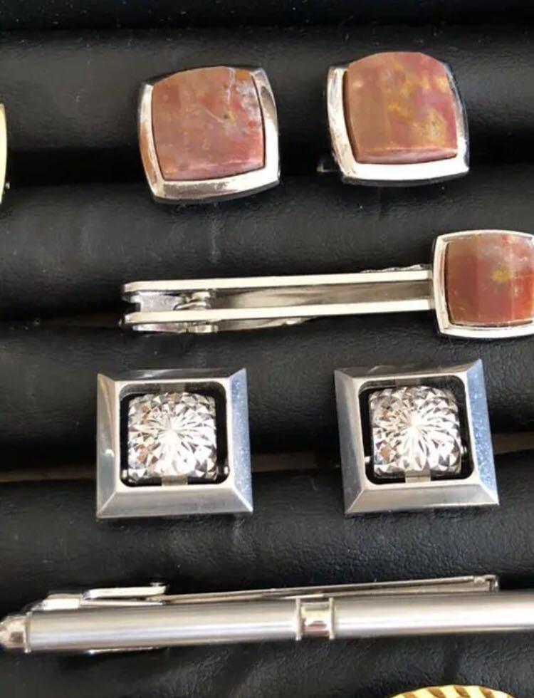 遺品整理品 高級感 カフス タイピン 天然石 大量セット売り切り _画像5