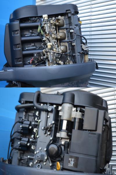 ヤマハ yamaha 船外機 80馬力 F80AET, 4サイクル X足 _画像6