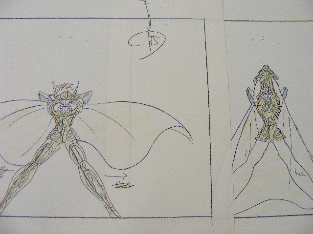 ☆聖闘士星矢「カミユ」の原画&コピーセット_画像7