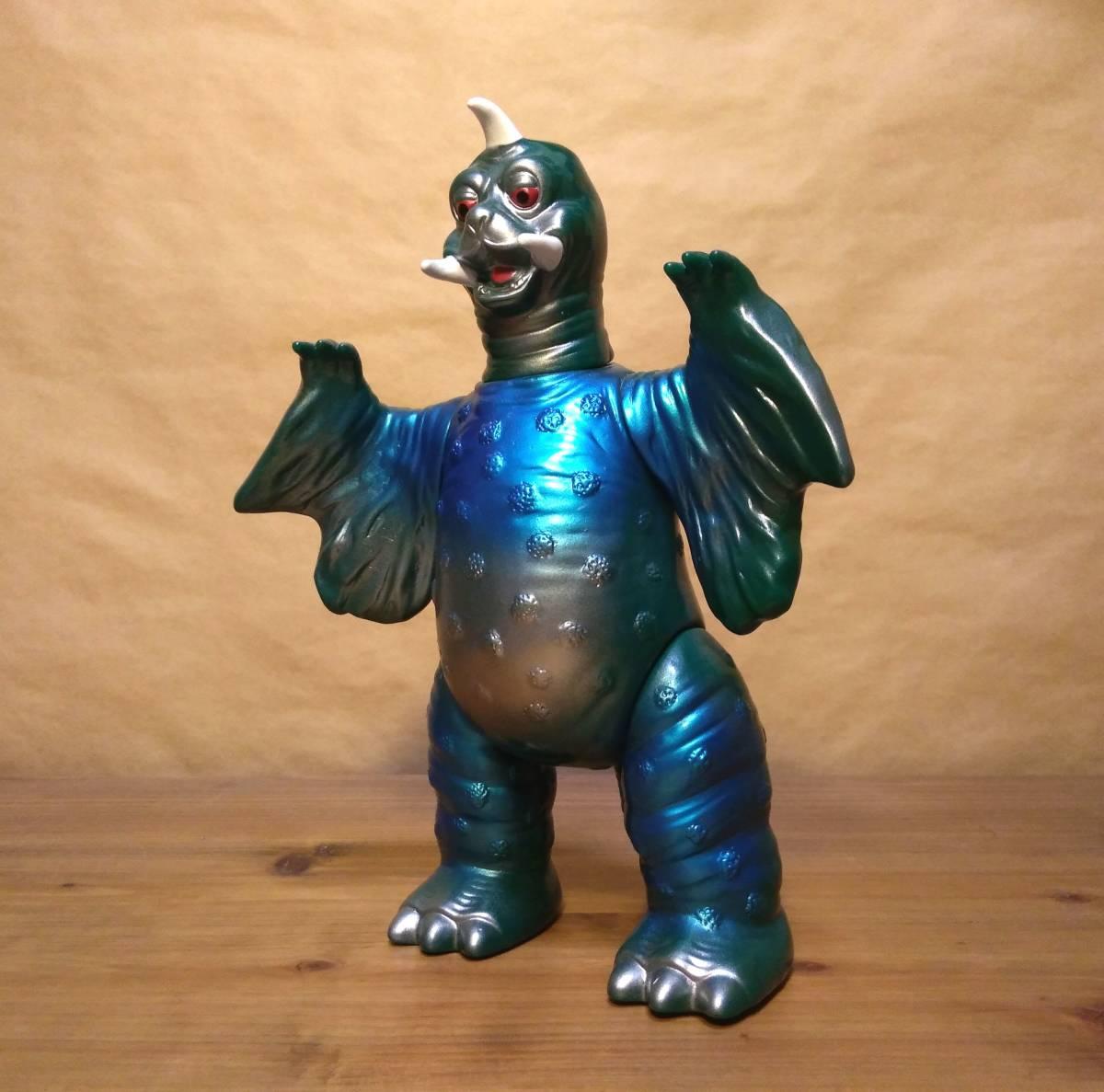 ◆◇◆ウルトラ怪獣ソフビ ブルマァク ペギラ復刻版(グリーン×メタリックブルー)ヘッダー付き 美品! ◆◇◆
