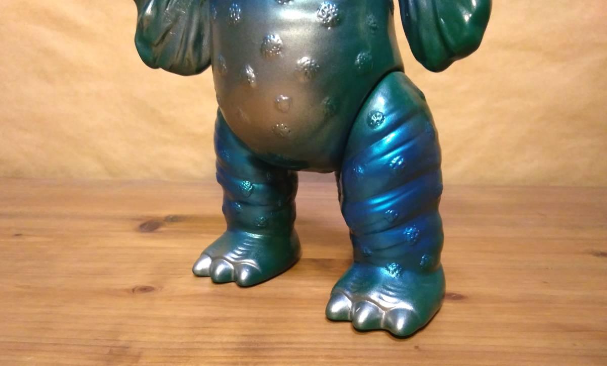 ◆◇◆ウルトラ怪獣ソフビ ブルマァク ペギラ復刻版(グリーン×メタリックブルー)ヘッダー付き 美品! ◆◇◆_画像3