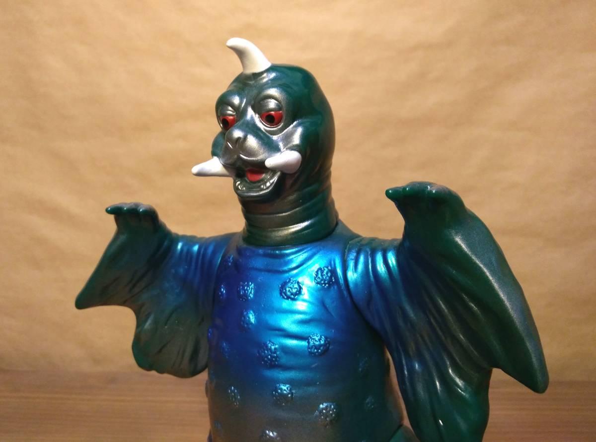 ◆◇◆ウルトラ怪獣ソフビ ブルマァク ペギラ復刻版(グリーン×メタリックブルー)ヘッダー付き 美品! ◆◇◆_画像2