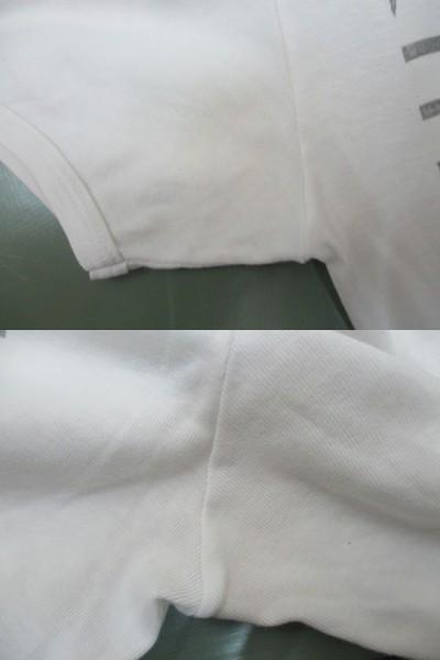 初期 アーカイブ Martin Margiela 0 10 マルタンマルジェラ アーティザナル ボーダーTシャツ 転写プリントTシャツ メンズ L 白×黒_画像6