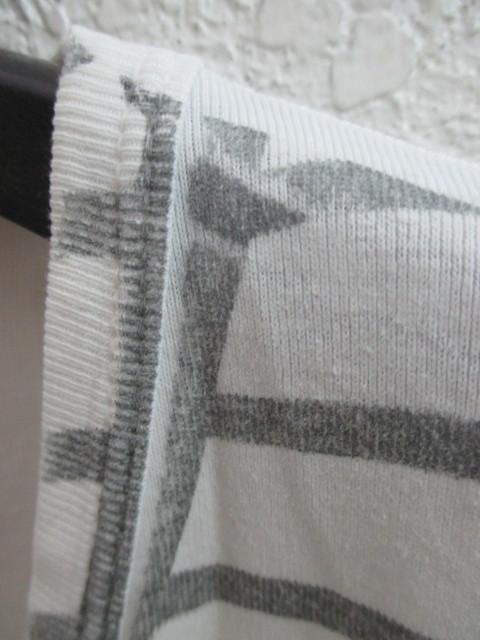 初期 アーカイブ Martin Margiela 0 10 マルタンマルジェラ アーティザナル ボーダーTシャツ 転写プリントTシャツ メンズ L 白×黒_画像3