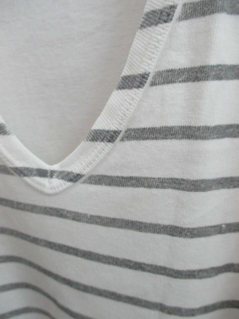 初期 アーカイブ Martin Margiela 0 10 マルタンマルジェラ アーティザナル ボーダーTシャツ 転写プリントTシャツ メンズ L 白×黒_画像5