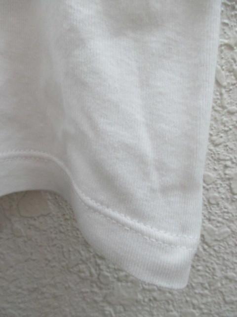 初期 アーカイブ Martin Margiela 0 10 マルタンマルジェラ アーティザナル ボーダーTシャツ 転写プリントTシャツ メンズ L 白×黒_画像8