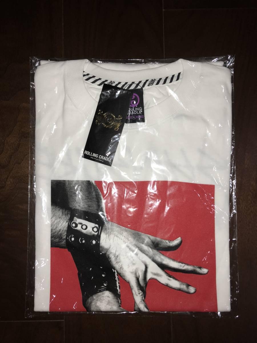 ROLLING CRADLE ローリングクレイドル 中邑真輔 コラボ Tシャツ XLサイズ プロレス WWE 新品未使用_画像3