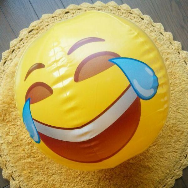 ★ 面白い絵文字 ビーチウォーターボール インフレータブルプール プールパーティーのおもちゃ