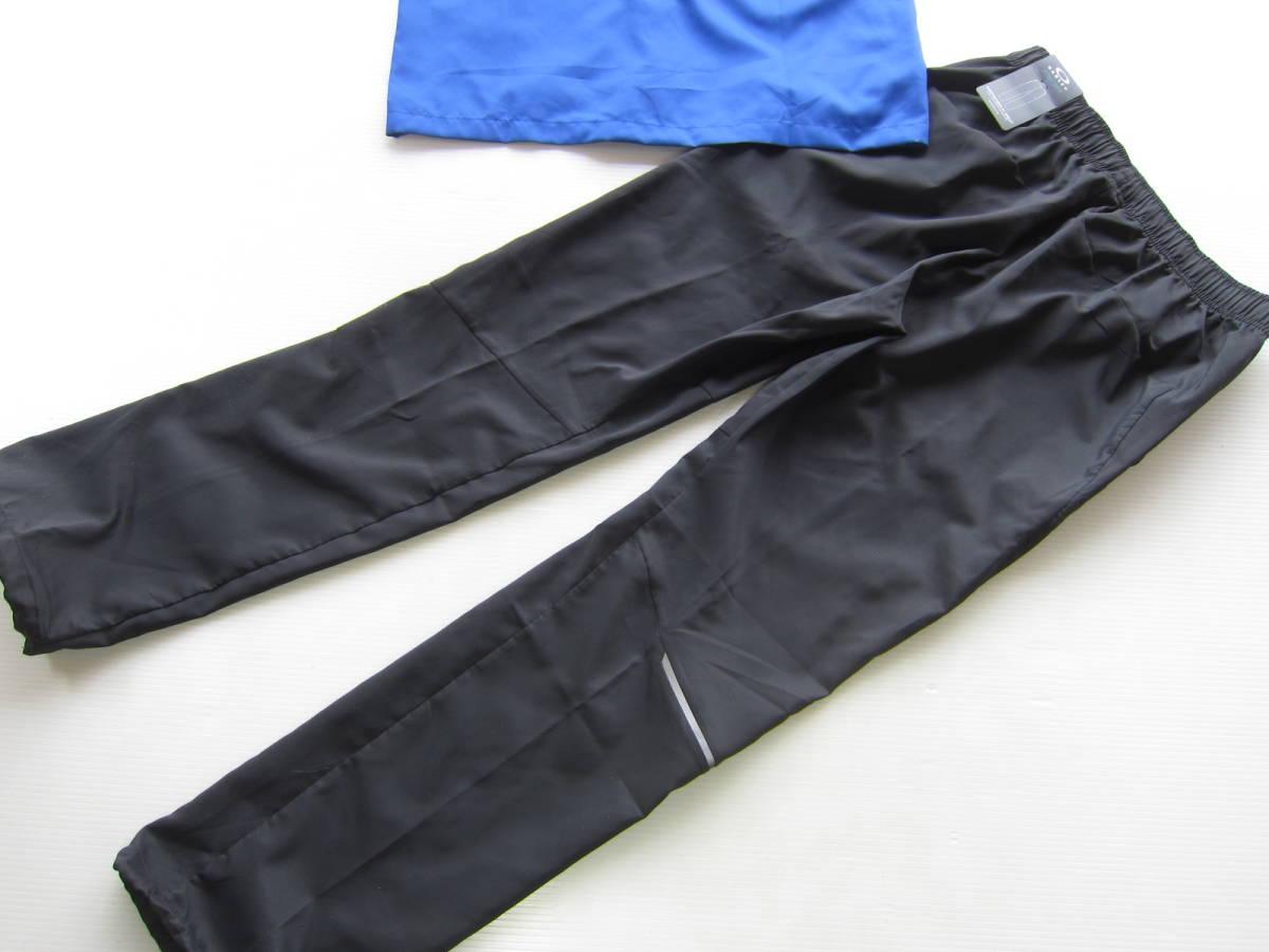 新品◆オークリーOAKLEY トレーニング パーカー & ロング パンツ L 高吸汗 速乾素材 上下セット 青ブルー ネイビー×黒 検/ ジャケット M_画像8