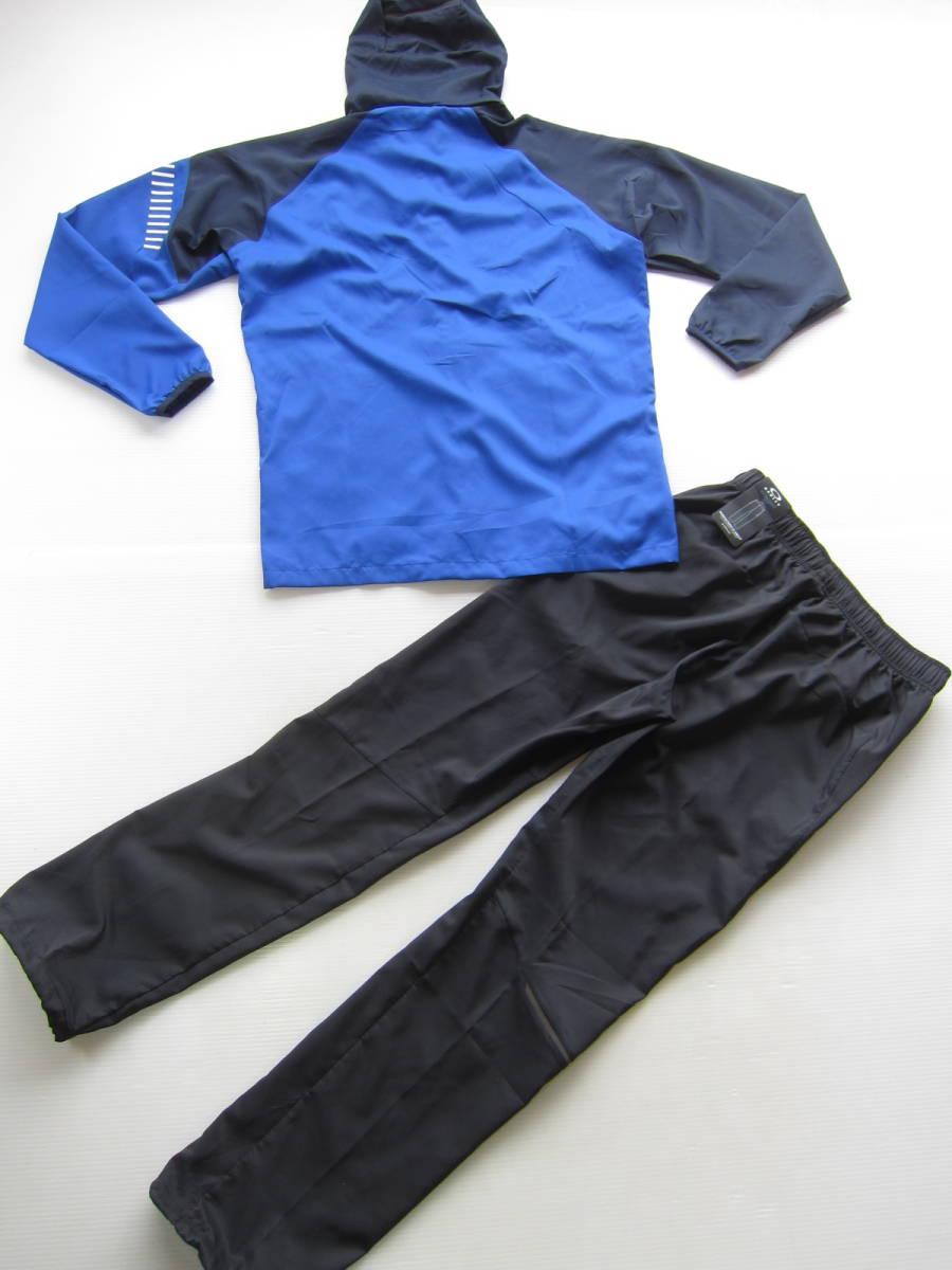 新品◆オークリーOAKLEY トレーニング パーカー & ロング パンツ L 高吸汗 速乾素材 上下セット 青ブルー ネイビー×黒 検/ ジャケット M_画像6