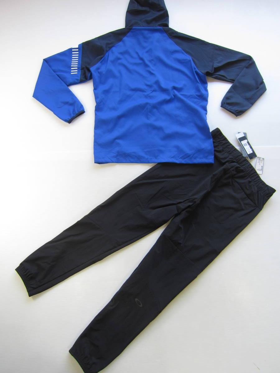 新品◆オークリーOAKLEY トレーニング ジャケット & ロング パンツ M 吸汗速乾ウェア トレーニング 上下セット ブルー 黒 検/ パーカーL_画像6