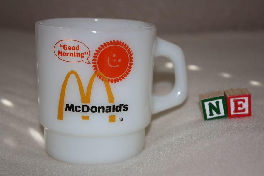 【1円スタート】ファイヤーキング アンカーホッキング グッドモーニング マクドナルドマグ(NE) FIRE KING Macdonald's MUG