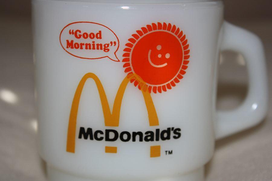 【1円スタート】ファイヤーキング アンカーホッキング グッドモーニング マクドナルドマグ(NE) FIRE KING Macdonald's MUG_画像7