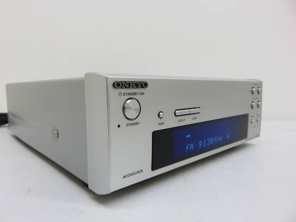 ONKYO オンキョー T-405FX FM AM チューナー 275直系 コンパクト 自動 時刻設定 アキュクロック 中古 美品_画像4