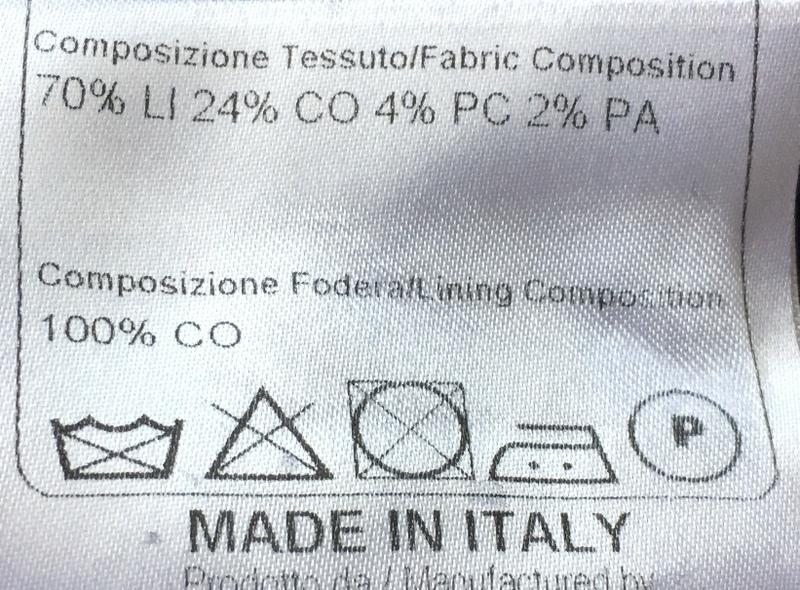 【新品】圧倒的清潔感 リネン70% ベージュ 春夏 イタリア製 TAGLIATORE タリアトーレ メンズ ウィンドウペン ジレ ベスト ビジネス 48 L _画像7