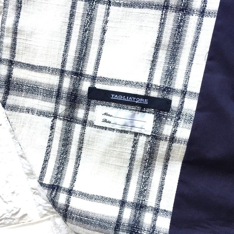 【新品】圧倒的清潔感 リネン70% ベージュ 春夏 イタリア製 TAGLIATORE タリアトーレ メンズ ウィンドウペン ジレ ベスト ビジネス 48 L _画像4