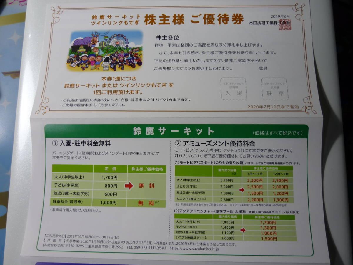 ★格安 ホンダ 株主優待券 鈴鹿サーキット or ツインリンクもてぎ 2020年7月10日まで★