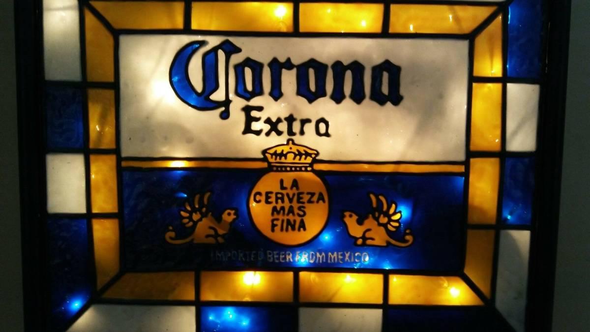 ビンテージ CORONA コロナ ビール ライト付き 看板 インスパイア 希少品_画像4