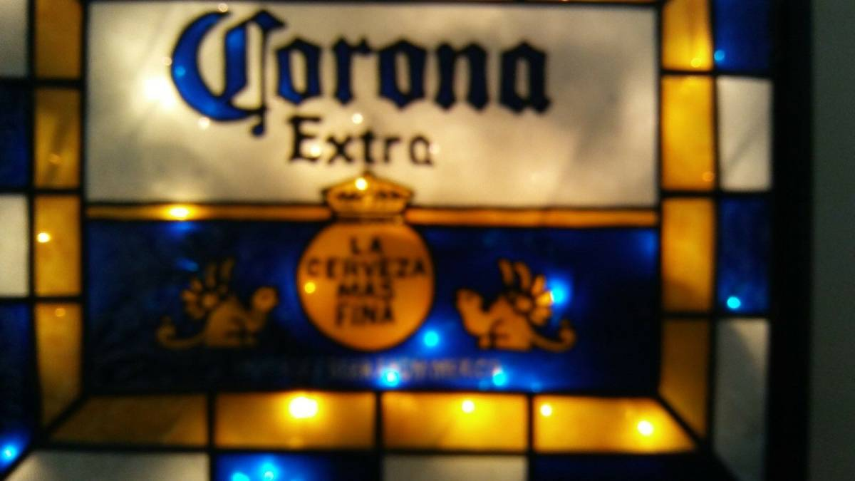 ビンテージ CORONA コロナ ビール ライト付き 看板 インスパイア 希少品_画像5