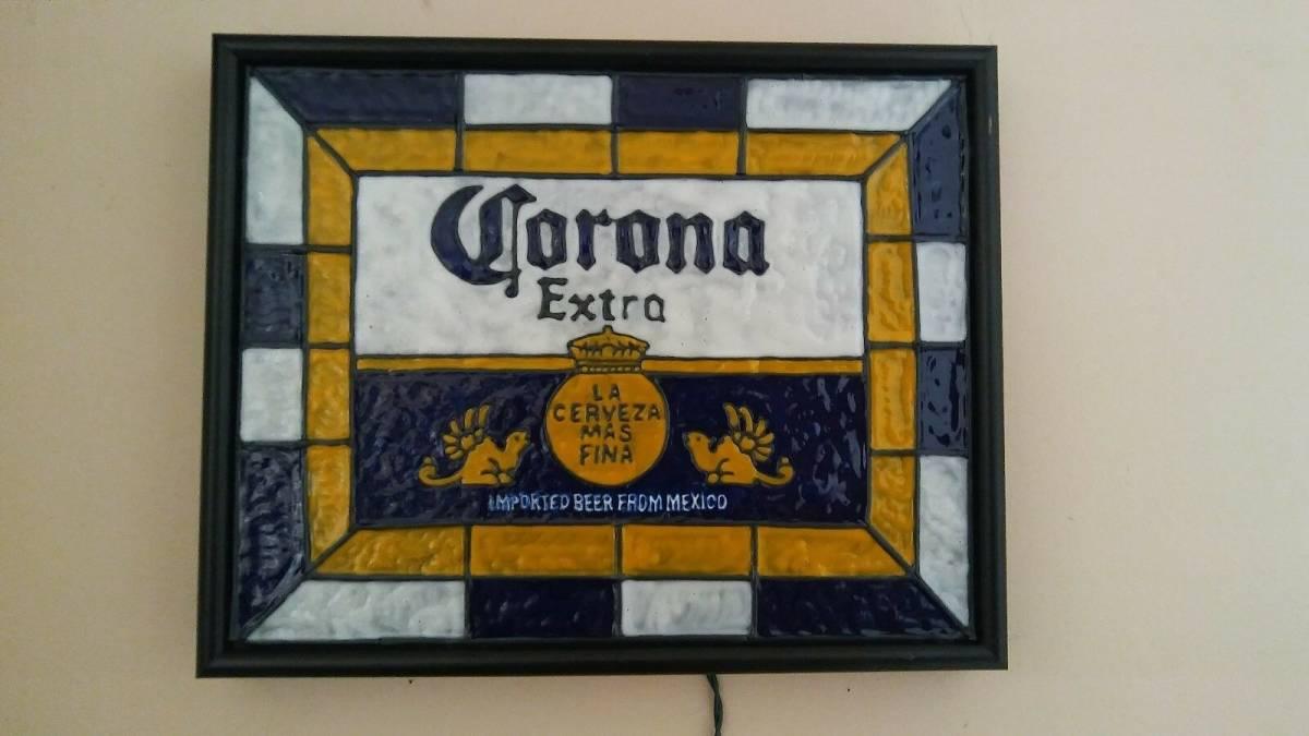ビンテージ CORONA コロナ ビール ライト付き 看板 インスパイア 希少品_画像2