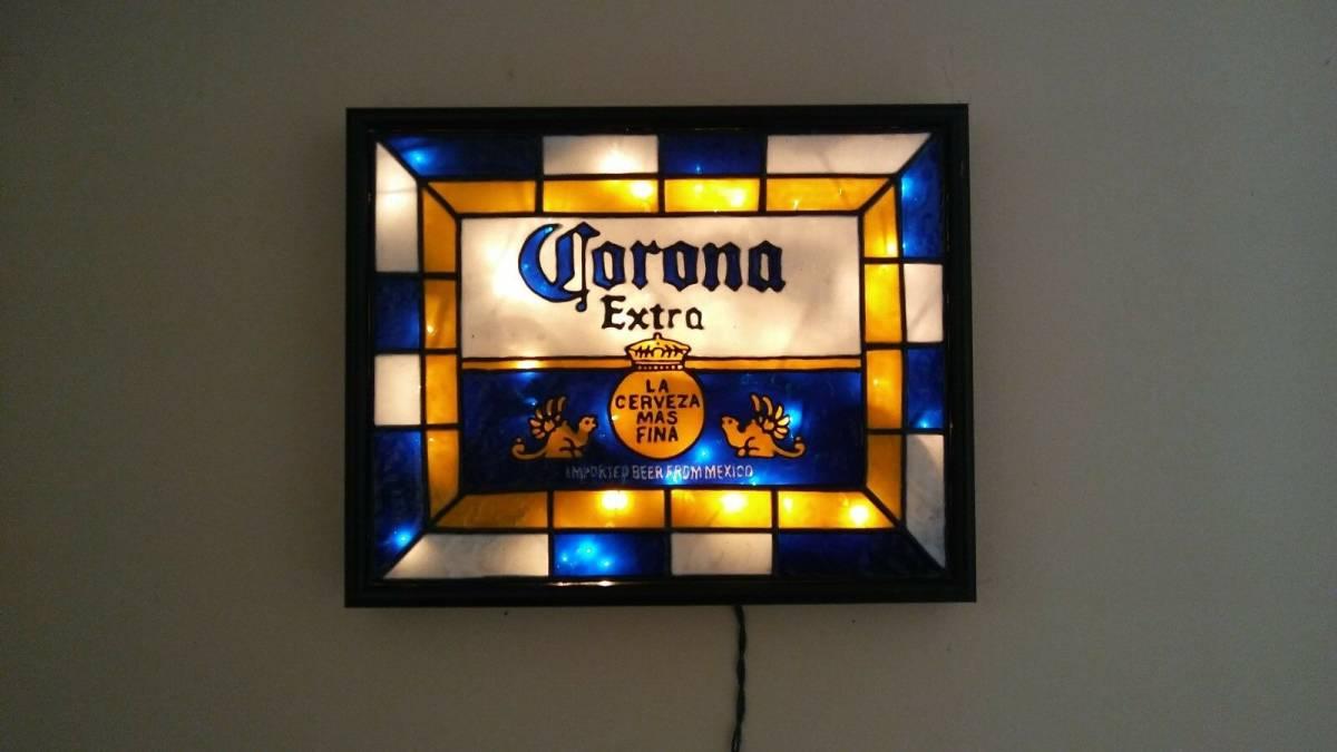 ビンテージ CORONA コロナ ビール ライト付き 看板 インスパイア 希少品_画像3